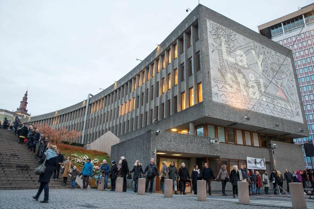 Plan- og bygningsetaten gir rivetillatelse til halve Y-blokken, men Picasso-fløyen får stå inntil videre. Foto: Håkon Mosvold Larsen / NTB scanpix