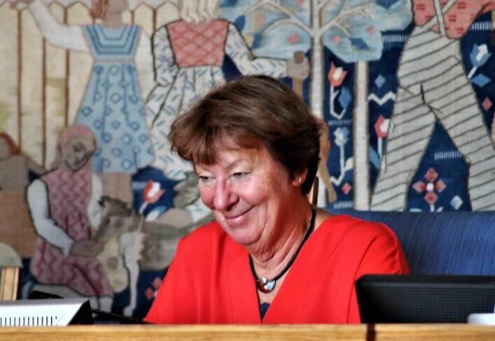 Ordfører Marianne Borgen ledet møtet der spørsmålet der spørsmålet om gjengs leie tilspisset seg. Foto: André Kjernsli