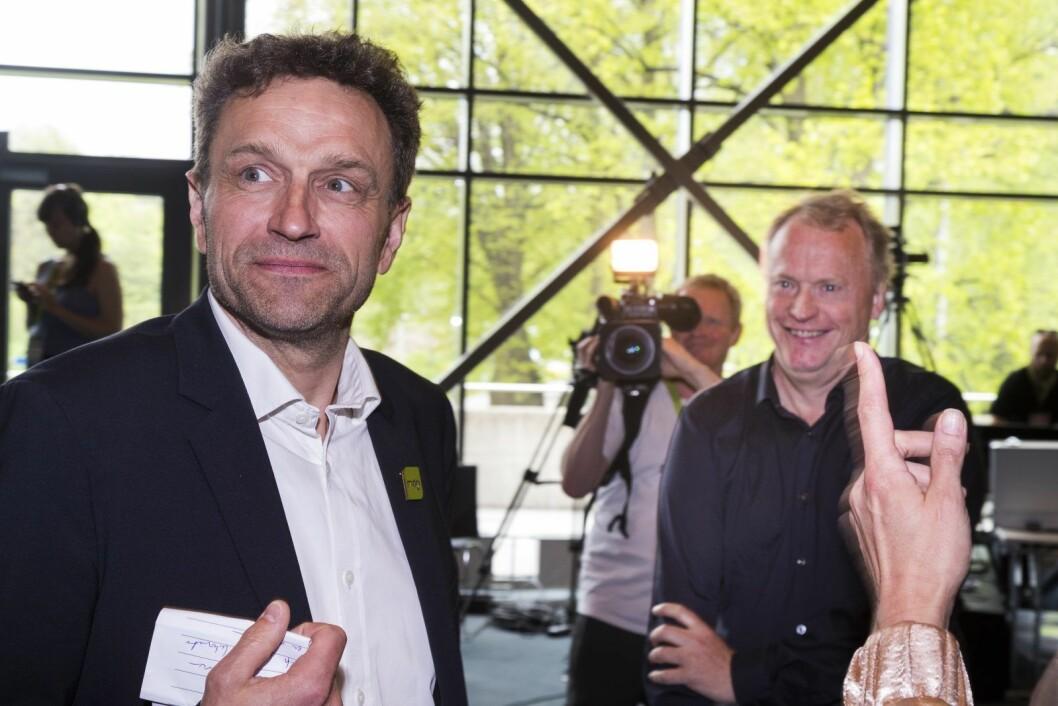 Både Oslos nye miljø- og samferdselsbyråd Arild Hermstad (MDG) og byrådsleder Raymond Johansen (Ap) skal snart ut i en valgkamp og forsvare Oslos nye og tredje bomring. Foto: Heiko Junge / NTB scanpix