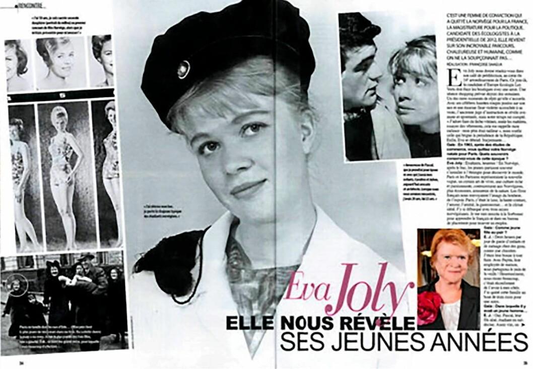 Eva Joly føyer seg vakkert inn i rekka av tøffe og flotte jenter fra Grønnløkka. Foto: Faximile fra Paris-Magazine