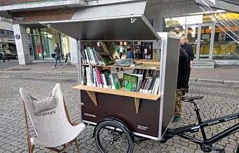 Deichman slår leir på Stortorget. Åpner utendørsbibliotek som flyttes rundt i byen i sommer