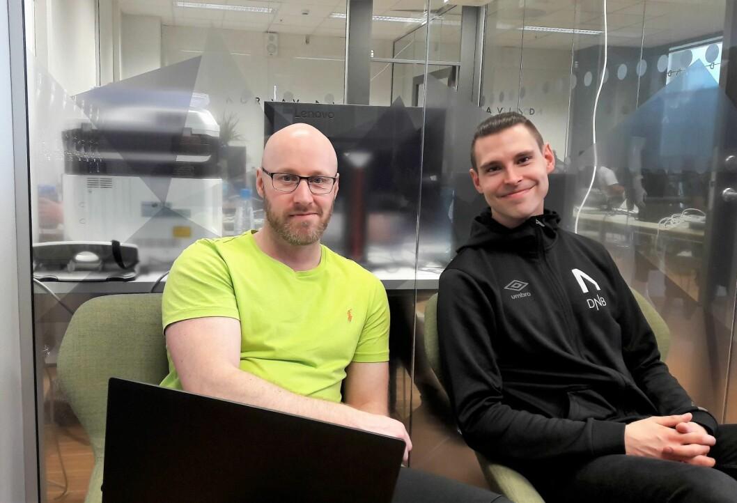 Stein Wilmann (t.v.) og Steffen Willumsen stiftet Nordavind for å lage en E-sport klubb som kunne konkurrere på høyest mulig nivå. Foto: Anders Høilund