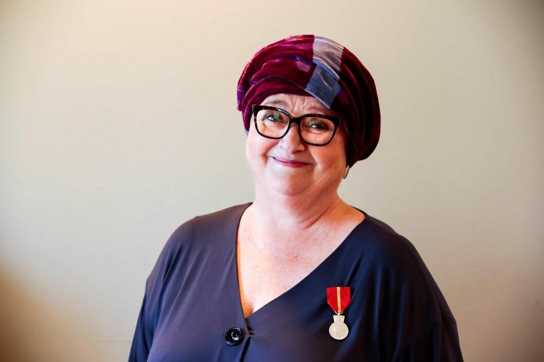 Marit Hermansen fotografert i mars, da hun ble tildelt Kongens fortjenstmedalje. Foto: Lise Åserud / NTB scanpix