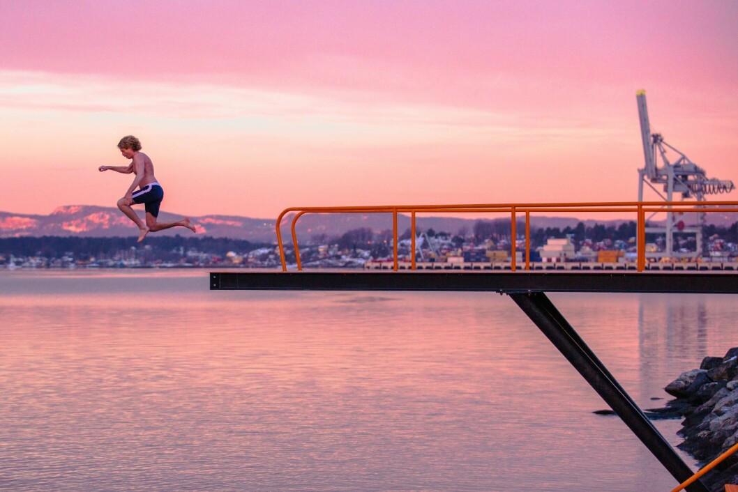 Stupebrettet i Bekkelagsbadet venter nå bare på badegjester. Foto: Geir Anders Rybakken Ørslien