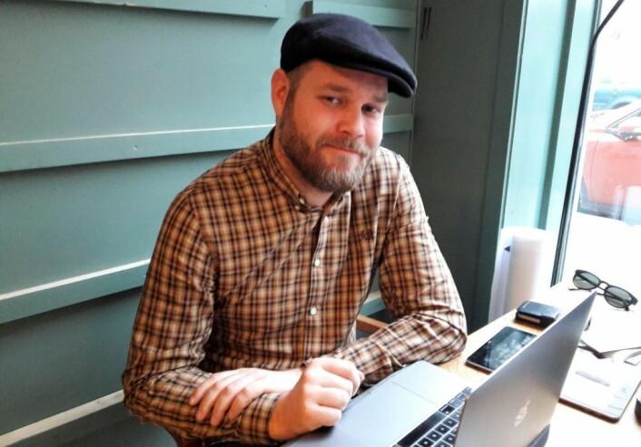 Brage Aronsen er en av grunnleggerne av det relativt nye Arbeidernes antikvariat. Foto: Anders Høilund