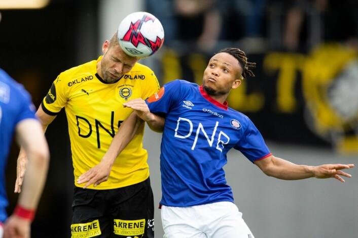 Chidera Ejuke var Vålerengas farligste spiller mot Lillestrøm: Foto: Audun Braastad / NTB scanpix
