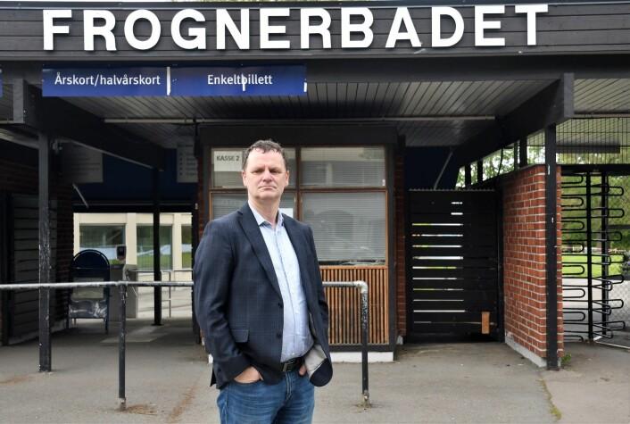 — En opprustning av Frognerbadet er viktig for å kunne lære barn på vestkanten å svømme, mener Jens Jørgen Lie (H). Foto: Christian Boger