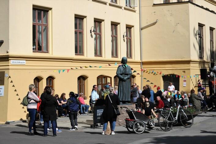 =KAFFE på Lovisenberg kan friste med mange solrike uteplasser. Foto: André Kjernsli