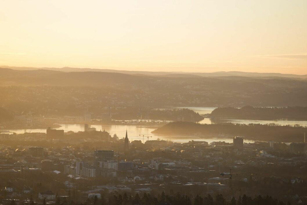 16. januar 2017 ble det innført midlertidig forbud mot å kjøre dieselbil i Oslo på grunn av akutt luftforurensing.  Foto: Håkon Mosvold Larsen / NTB scanpix
