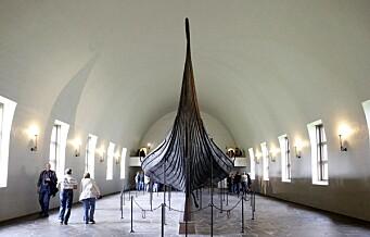 Norge kan havne på internasjonal verstingliste fordi vikingskipene på Bygdøy mangler penger til vern