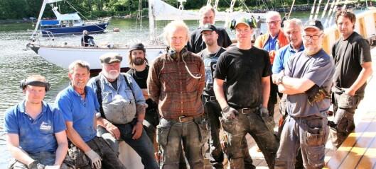 Seilskipet S/S Christiania er reparert og kommer tilbake til Rådhusbrygga i dag