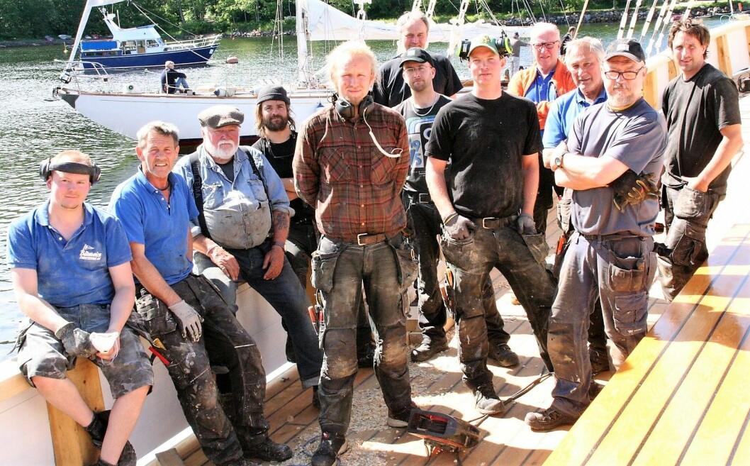 Det var 12 mennesker i hundre prosent stilling under arbeidet. Foto: Kristian Qvigstad