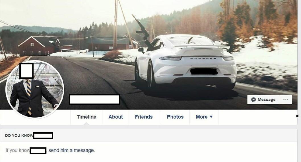 Skjermdumpen er fra den 37 år gamle forretningsmannens Facebook-side. Etter at VårtOslo intervjuet 37-åringen har han fjernet dem fra offentlig visning.