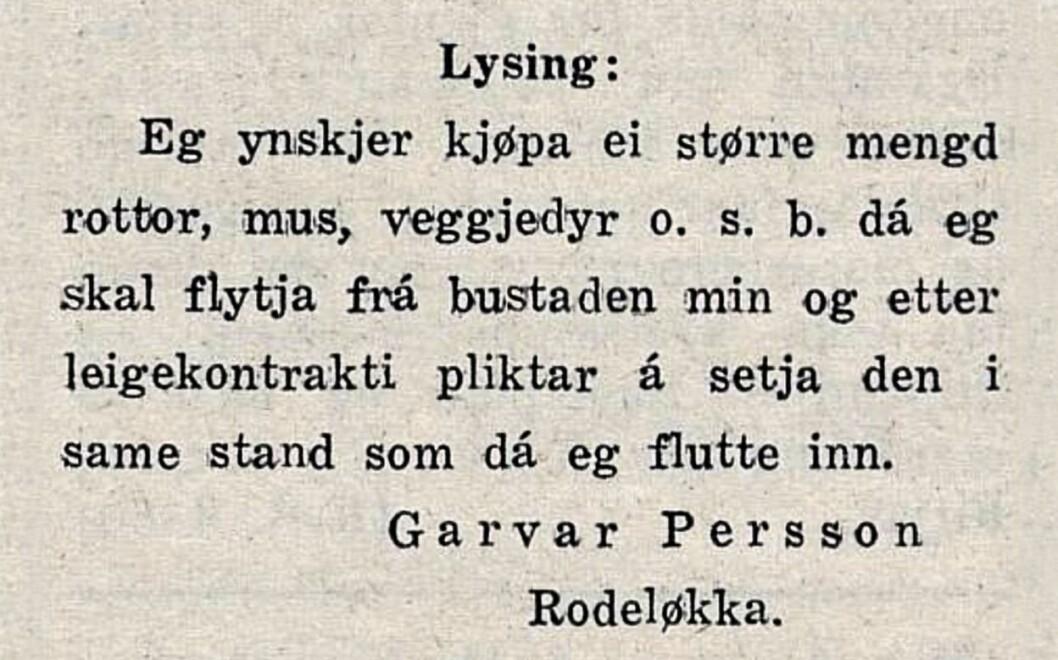Garver Persson. Gula Tidend, 1922