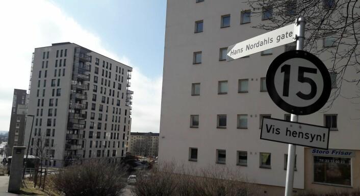 Fotballspiller Hans Nordahl fra Skeid har fått en gate oppkalt etter seg på Torshov. Sportshelter kom på kartet med medias økende innflytelse i samfunnet, mener Hoel og Haugerud. Foto: Anders Høilund