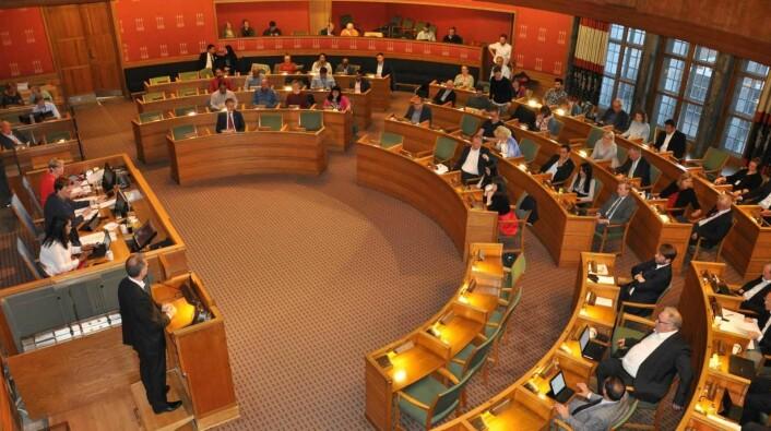 Det kan ligge an til en aldri så liten budsjettkrise når politikerne møtes i rådhuset 19. juni for å vedta revidert budsjett for 2019. Foto: Arnsten Linstad