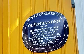 Olsenbanden hedret på Kampen. Huset der banden planla kuppene har fått sitt eget blå skilt