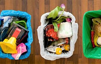 – I Oslo blir en tredel av plasten fra husholdningene puttet i blå poser og resirkulert. Det er for lite