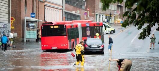 Kraftig regnskyll skaper vannkaos i Oslo