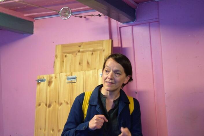 Sarah Prosser, fra Tøyen Unlimited, har et stort hjerte for bydelens marginaliserte. Foto: Magnus Evenstuen