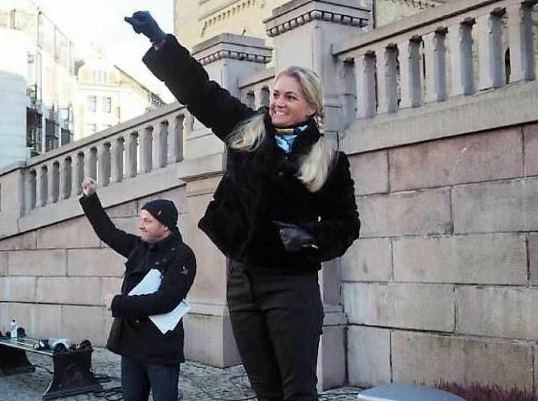 Bompengepartiet fosser frem i hovedstaden. Her er partiets andrekandidat til bystyret, Cecilie Lyngby. Foto: Privat
