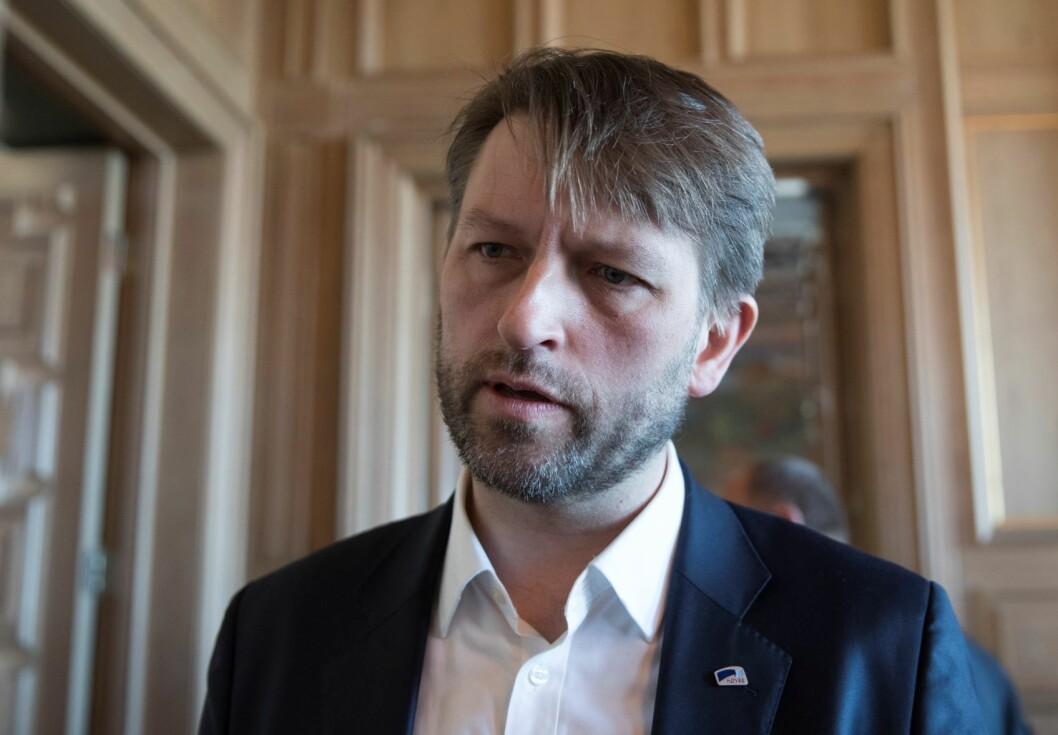 Eirik Lae Solberg (H) mener byrådet setter den tverrpolitiske enigheten om Oslopakke 3 i fare når de ikke i handlingsprogrammet ikke igangsetter finansieringen og byggingen av Røatunnelen innen 2020. Foto: Terje Pedersen / NTB scanpix