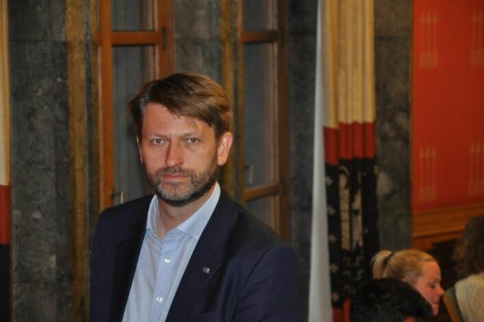 Høyres Eirik Lae Solberg må belage seg på støtte fra bompengeprotestantene i FNB dersom han NRK og Aftenpostens junimåling for Oslo speiler valgresultatet til høsten. Foto: Arnsten Linstad