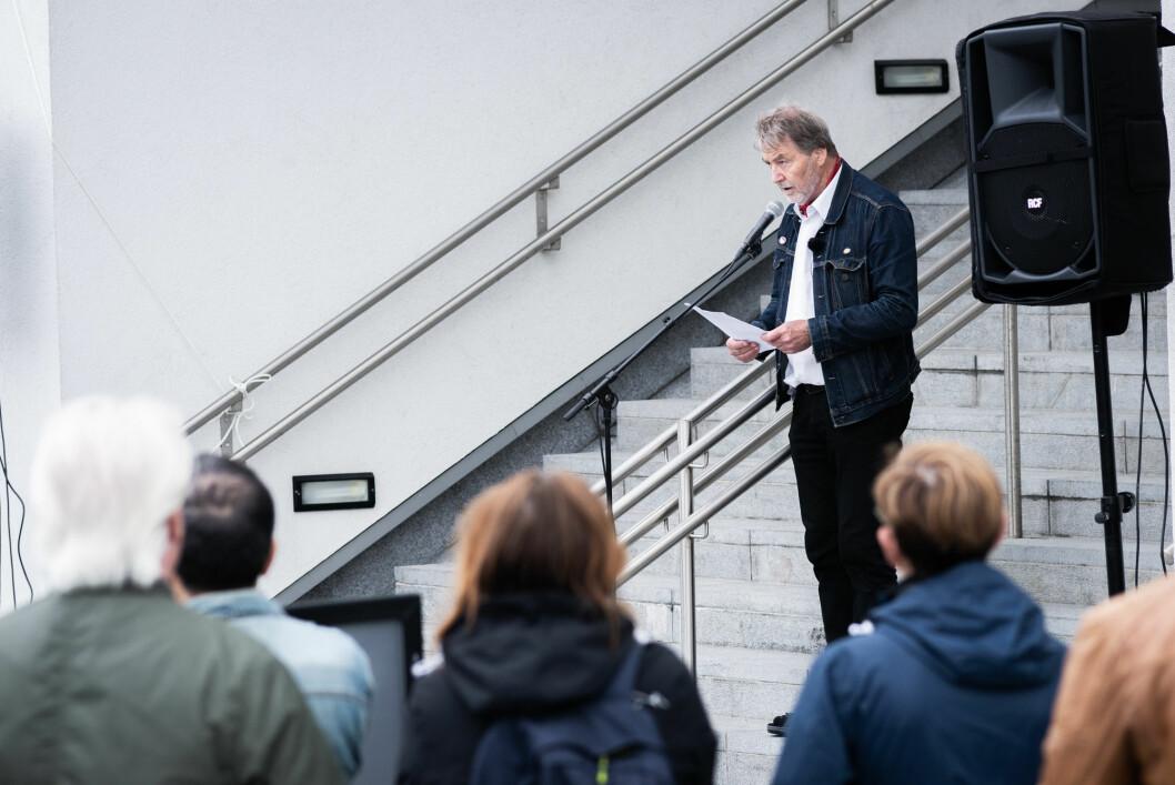 Styreleder i Ellipsen borettslag taler for mange når han sier at han har fått nok av ventingen på grønne arealer. Foto: Bjørnar Morønning