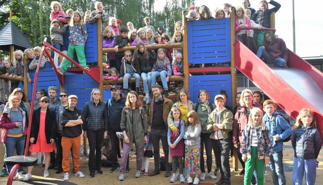 Barn og foreldre ved Vålerenga skole står sammen i kampen mot bane Nors utbyggingsplaner.