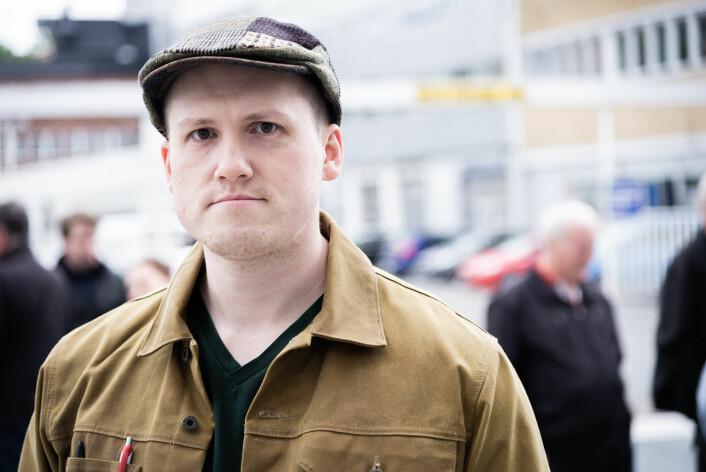 Emil Snorre Alnæs er opptatt av fremtiden for stålverkshallene på Ensjø. Foto: Bjørnar Morønning