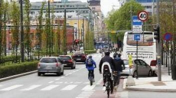 Dronning Eufemias gate er en grønn by-aveny med et stort mangfold av trær. Foto: Oslo kommune