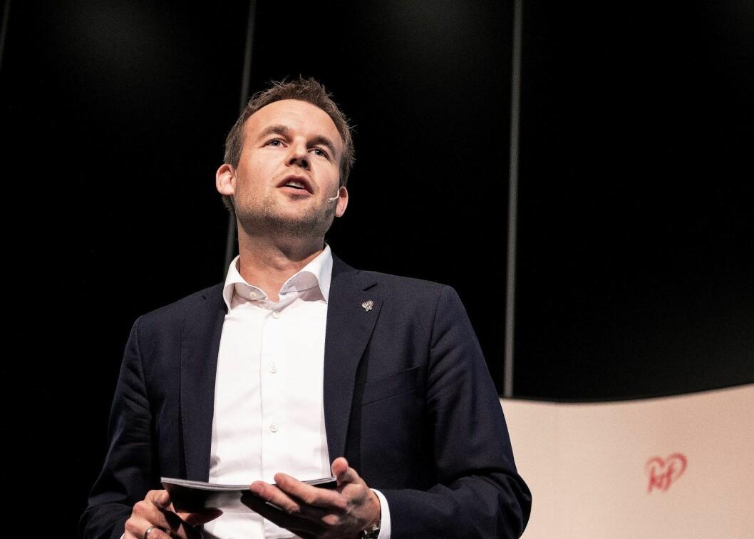 KrF-leder Kjell Ingolf Ropstad begrunner sitt valg med at han er sterkt uenig i mange av sakene arrangør FRI står for, om for eksempel sexkjøpsloven og surrogati. Foto: Carina Johansen / NTB Scanpix