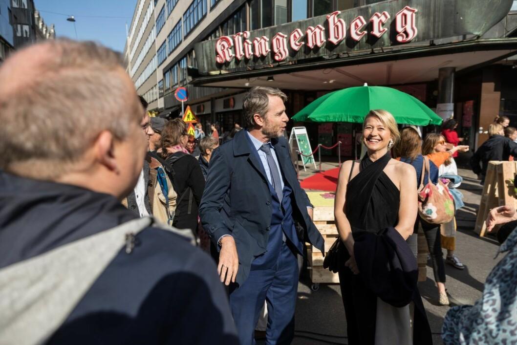 Hovedrolleinnehaver og dronningen av dansk film, Trine Dyrholm, var en av festivalens hovedgjester. Foto: Oslo Pix