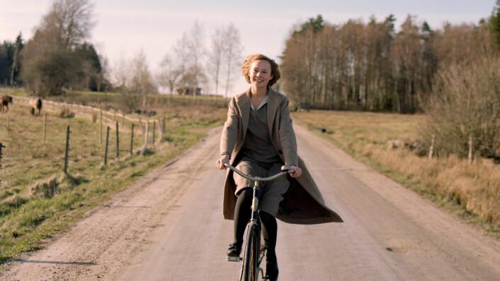 Scene fra filmen Unge Astrid om forfatteren Astrid Lindgren. Foto: Oslo Pix