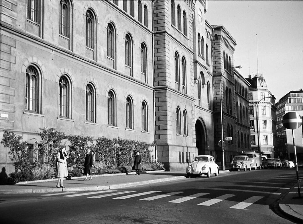 Turen endte hos politiet i Møllergata 19. Foto: Harriet Flaaten/Oslo Museum