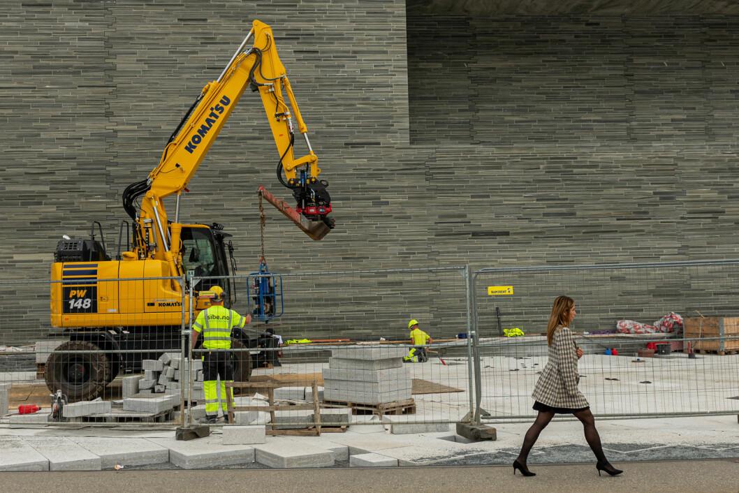 Det er ikke spart på mye på det nye Nasjonalmuseet. LO er kritiske til at de som skal arbeide i museets tekniske gang ikke kan rette ryggen. Foto: Morten Lauveng Jørgensen