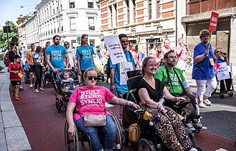 Denne helga demonstrerte de funksjonshemmede stolte og frie i Oslos gater. Se fotoene
