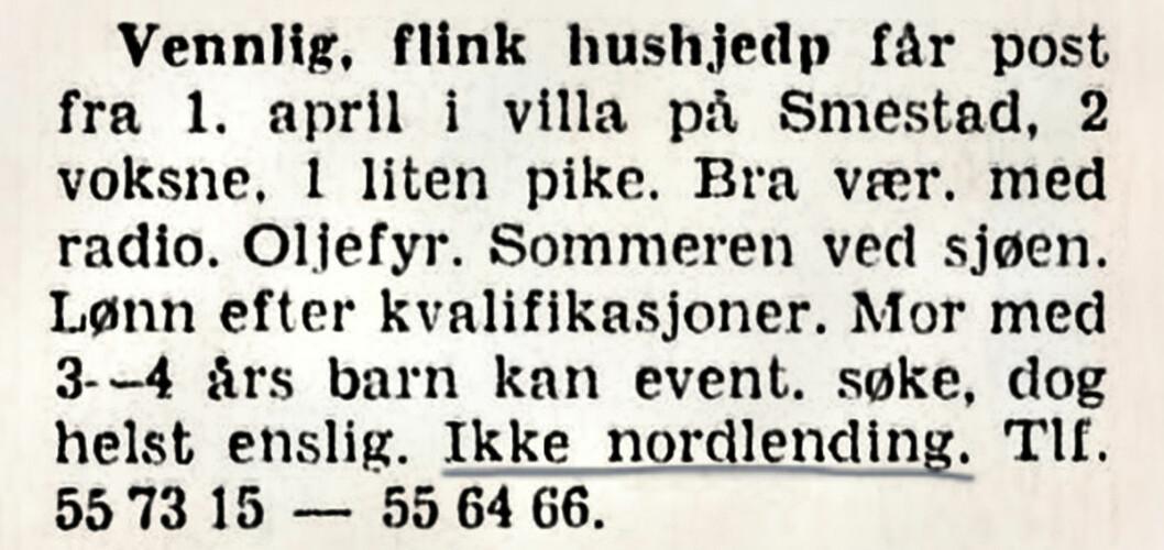 Hushjelp på vestkanten. Aftenposten, 1954