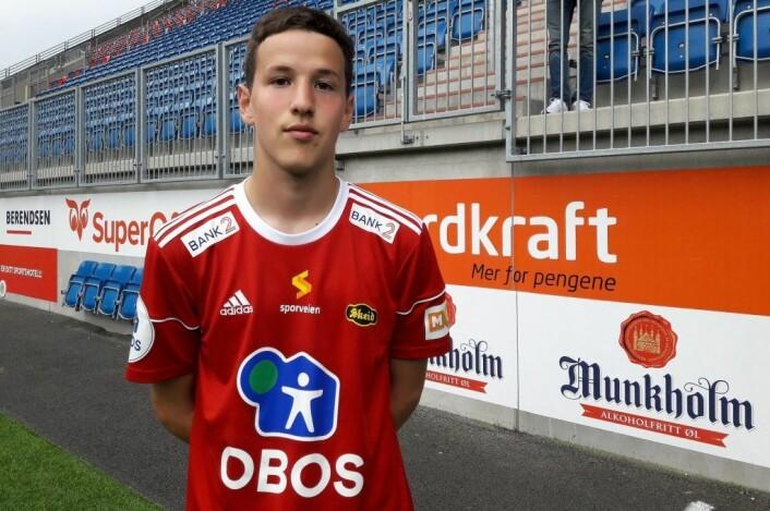 Skeids Johannes Nuñez spilte en fin kamp, men mente selv at han burde klart å skåre på en av sjansene sine. Foto: Anders Høilund