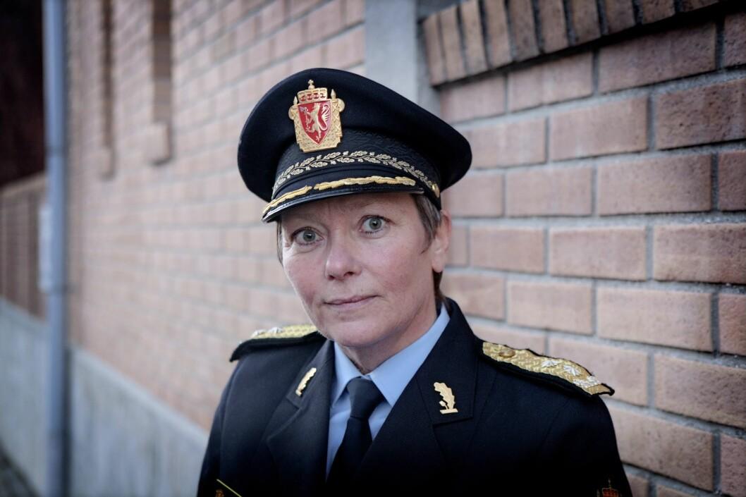 Beate Gangås (56) er utnevnt til ny politimester i Oslo politidistrikt. Hun blir ny politimester de neste seks åra. Foto: Linn Cathrin Olsen / Scanpix