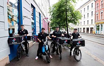 Domino's Pizza på Løkka er førstemann i byen til å frakte pizza på elmoped
