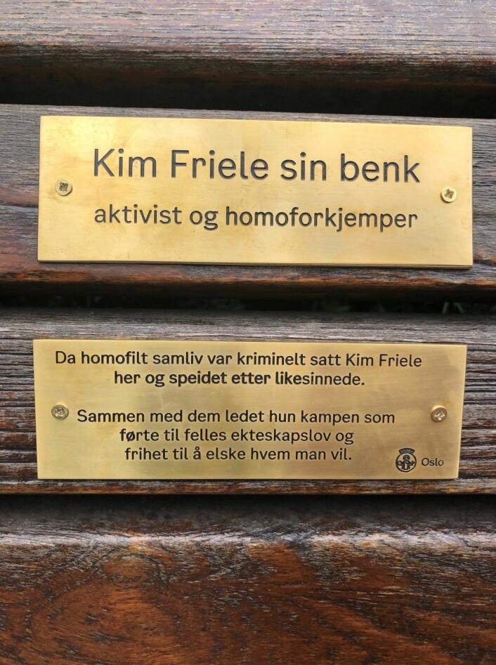 Den gamle sitteplassen står nå sentral i historien om retten til likekjønnet kjærlighet. Foto: Per Anders Torvik Langerød