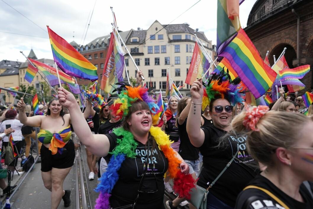 Oslo Pride Parade 2019. Paraden går fra Grønland til Pride Park i Spikersuppa i Oslo sentrum. Foto: Fredrik Hagen / NTB scanpix