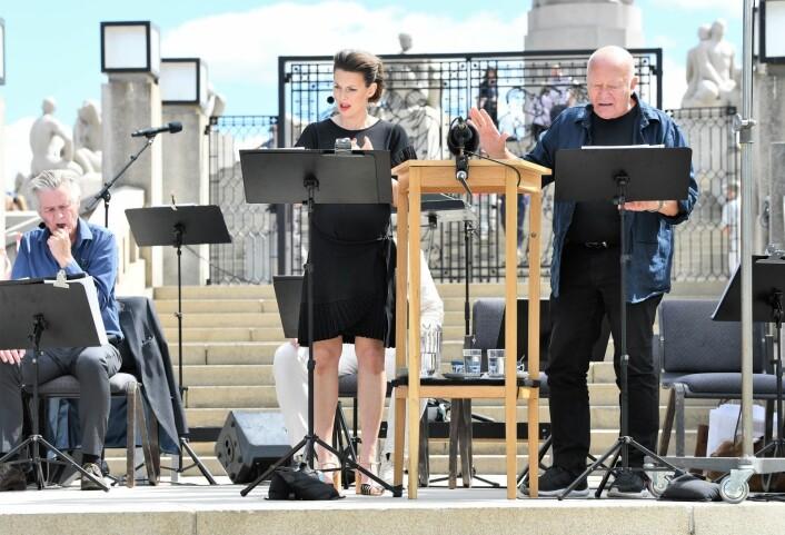 """Jubileumsforestillingen """"Lyden av Vigeland"""" blir sendt både som radioteater og på tv i løpet av høsten. Foto: Christian Boger"""
