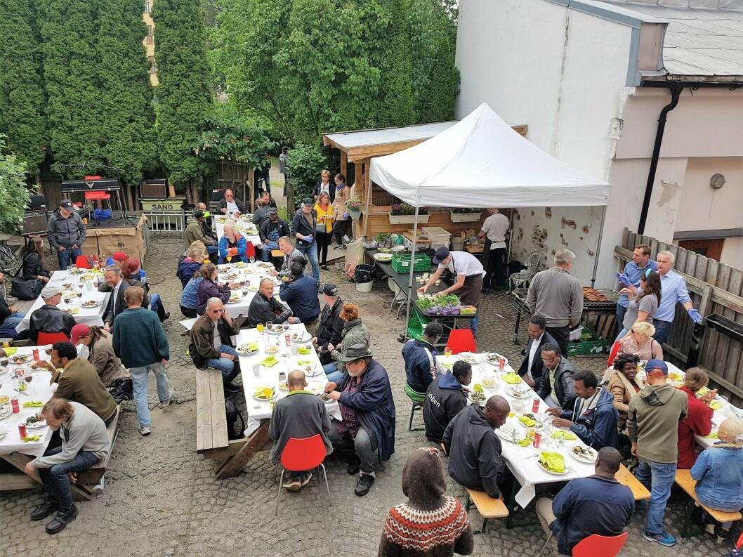Infinitum rigget til sommerfest for de ansette hos jobben-prosjektet i Frelsesarmeen. Foto: André Kjernsli
