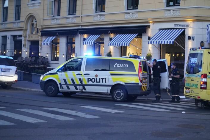 En person ble søndag funnet alvorlig knivstukket i en leilighet i Valkyriegata på Majorstuen. Foto: Fredrik Hagen / NTB scanpix