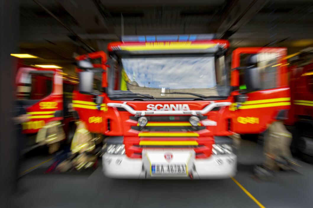 En person er kjørt til legevakt for sjekk. Foreløpig ukjent skadeomfang. Men brannen er slukket, melder nødetatene, Arkivfoto: Gorm Kallestad / NTB scanpix