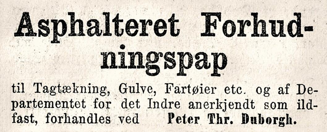 Forhudning: Å gjøre tett eller dekke med et beskyttende materiale. Morgenbladet, 1866
