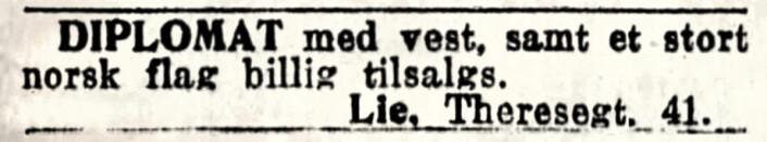 Diplomat-dress. Aftenposten, 1919