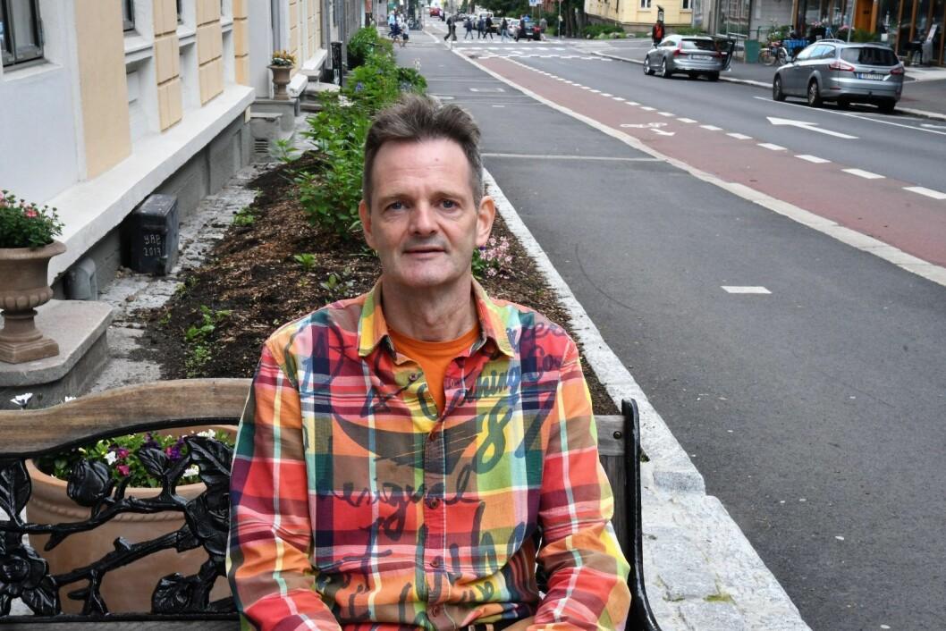 Helge Irgens Refsum har vært sentral i jobben med å få på plass forhagene, og er svært godt fornøyd med resultatet. Foto: Christian Boger
